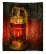 Steampunk - Red Light District Fleece Blanket