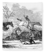 Steeplechase, 1845 Fleece Blanket
