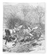 Steeplechase, 1847 Fleece Blanket