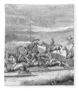 Steeplechase, 1863 Fleece Blanket