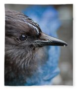 Stellars Jay Up Close And Personal Fleece Blanket