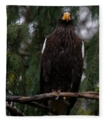 Steller's Sea Eagle Fleece Blanket