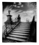 Steps At Chateau Vieux Fleece Blanket