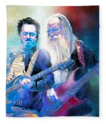 Steve Lukather And Leland Sklar From Toto 02 Fleece Blanket