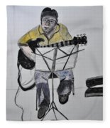 Steve's Guitar Fleece Blanket