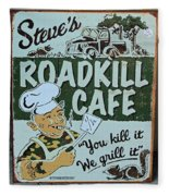 Steves Roadkill Cafe Fleece Blanket