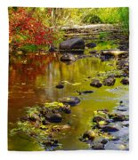Still Golden Waters Fleece Blanket