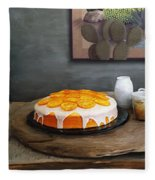 Still Life With Cake And Cactus Fleece Blanket