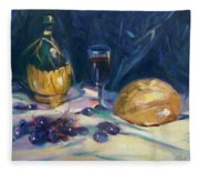 Still Life With Grapes Fleece Blanket