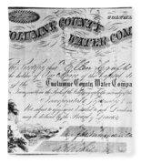 Stock Certificate, 1853 Fleece Blanket
