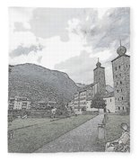 Stockalper Castle Fleece Blanket