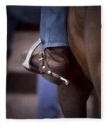 Stockhorse And Spurs Fleece Blanket