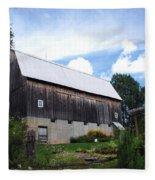 Stone Cottage Barn Fleece Blanket