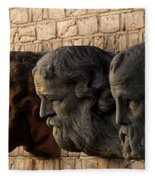 Stone Faces Fleece Blanket