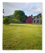 Stone Farmhouse In Vermont Fleece Blanket