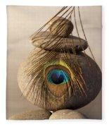 Stone Heart Fleece Blanket