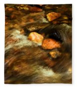 Stone Mountain River Rocks Fleece Blanket