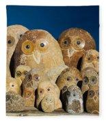 Stone Owls Fleece Blanket