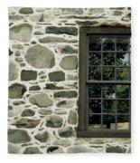 Stone Wall With A Window Fleece Blanket