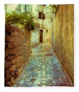 Stones And Walls Fleece Blanket