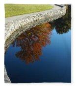 Stonewall And Autumn Reflections Fleece Blanket