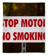 Stop Motor No Smiking Fleece Blanket