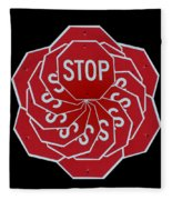 Stop Sign Kalidescope Fleece Blanket