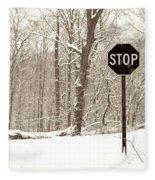 Stop Snowing Fleece Blanket