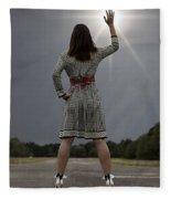Stop The Sun Fleece Blanket