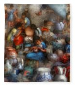 Store - The Busy Marketpalce Fleece Blanket