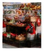 Store - Ny - Chelsea - Fresh Fruit Stand Fleece Blanket