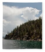 Storm Ahead Lake Tahoe Fleece Blanket