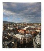 Storm Approaching Oslo Fleece Blanket