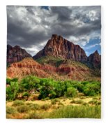 Storm Brewing In Desert Fleece Blanket