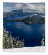 Storm Clearing At Discovery Point Fleece Blanket