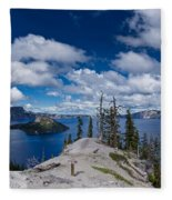 Storm Clearing From Discovery Point Fleece Blanket
