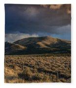 Storm Clearing Over Great Basin Fleece Blanket