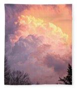 Storm Cloud Moving In On West Michigan Fleece Blanket