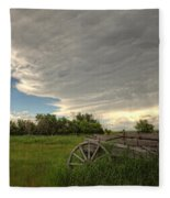 Storm Clouds Gather Over An Abandoned Fleece Blanket