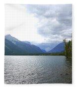Storm Clouds Over Lake Mcdonald Fleece Blanket