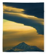 Storm Over Shasta Fleece Blanket