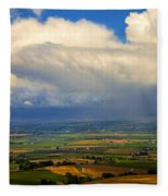Storm Over The Kittitas Valley Fleece Blanket