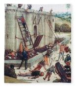 Storming Of Castle Fleece Blanket