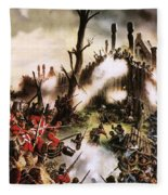 Storming Of Maori Fort  Fleece Blanket