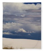 Storm's Contrast With White Sand Fleece Blanket
