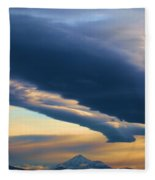 Storms Over Shasta Fleece Blanket