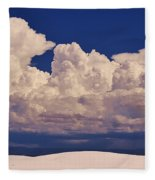 Storms Over The Mountains Fleece Blanket