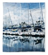 Stormy Blues Fleece Blanket