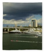 Stormy Fort Lauderdale Fleece Blanket