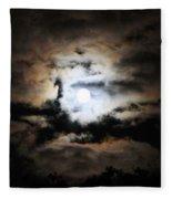 Stormy Moon Fleece Blanket